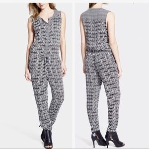 Ella Moss Tempe Sleeveless Black Pattern Jumpsuit